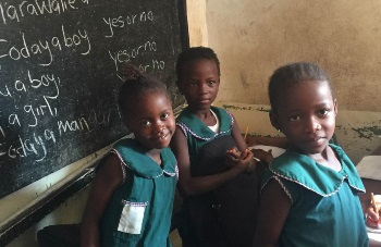 Children in a Sierra Leone classroom